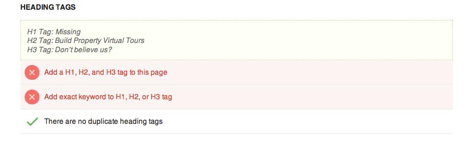 Heading tags score seo tool tutorial