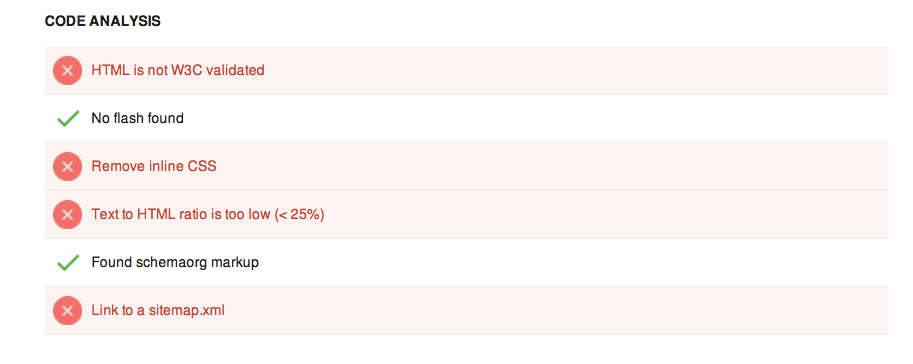 Code analysis score seo tool tutorial