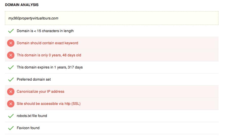 Domain analysis score seo tool tutorial