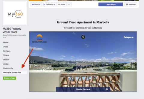 Add a Virtual Tour to Facebook