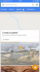 Make virtual tour with smartphone